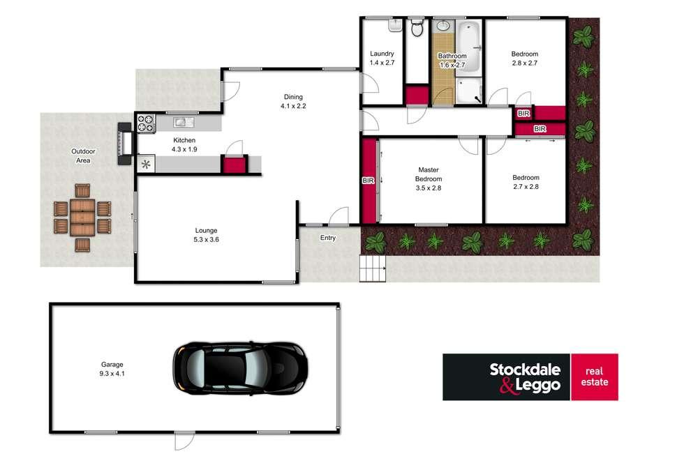 Floorplan of Homely house listing, 16 Blackwood Crescent, Churchill VIC 3842