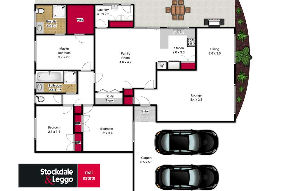 Floorplan of Homely house listing, 1 Wattletree Crescent, Morwell VIC 3840