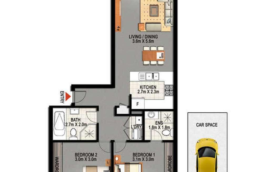 Floorplan of Homely unit listing, 26/47 Henley Road, Homebush West NSW 2140