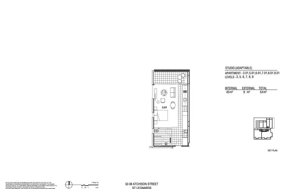 Floorplan of Homely studio listing, 701/38 Atchison Street, St Leonards NSW 2065