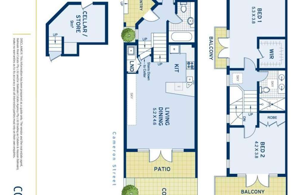 Floorplan of Homely house listing, 40B Clayton Street, Balmain NSW 2041