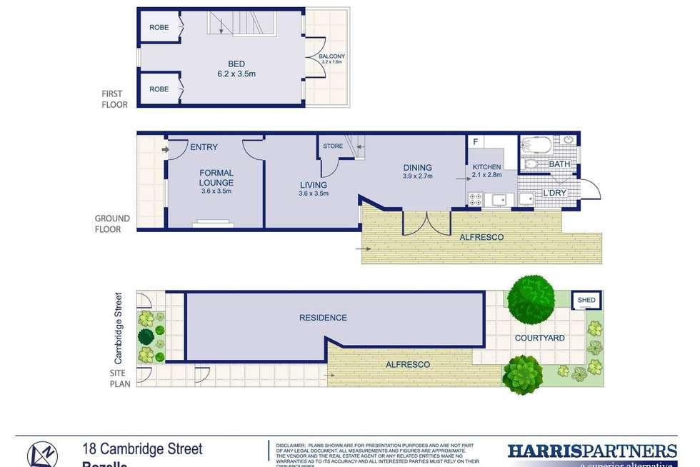 Floorplan of Homely house listing, 18 Cambridge Street, Rozelle NSW 2039