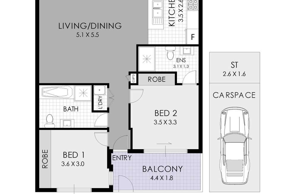 Floorplan of Homely apartment listing, 17/54-58 MacArthur Street, Parramatta NSW 2150