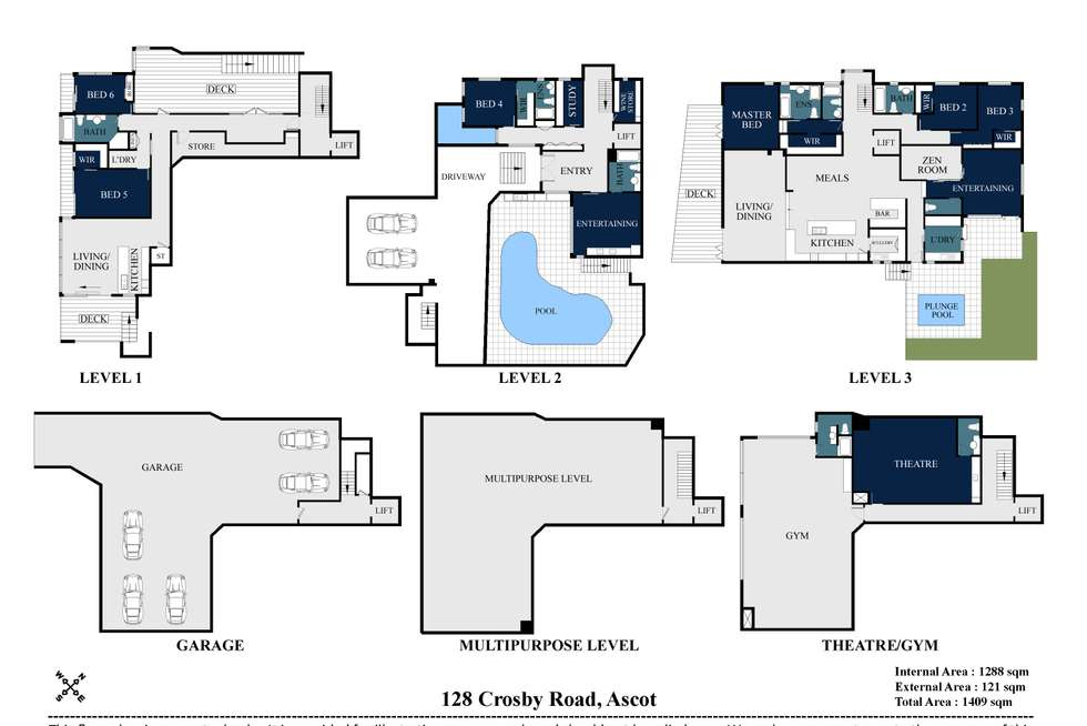 Floorplan of Homely house listing, 128 Crosby Road, Ascot QLD 4007