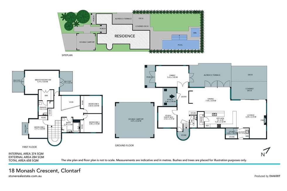 Floorplan of Homely house listing, 18 Monash Crescent, Clontarf NSW 2093