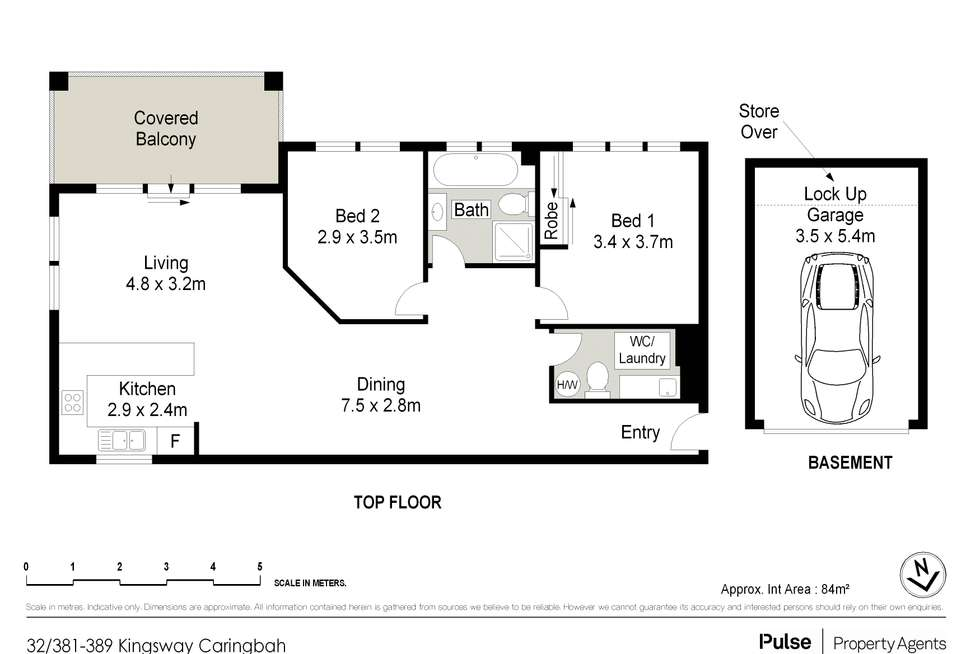 Floorplan of Homely apartment listing, 32/381-389 Kingsway, Caringbah NSW 2229