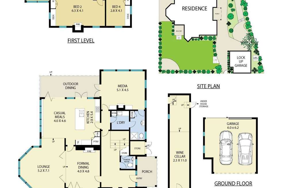 Floorplan of Homely house listing, 7 Bickell Road, Mosman NSW 2088