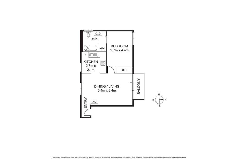Floorplan of Homely apartment listing, 16/60 Oshanassy Street, North Melbourne VIC 3051