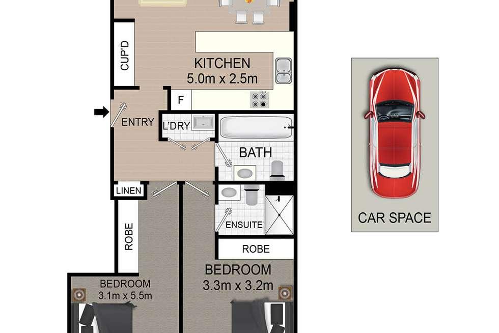 Floorplan of Homely apartment listing, 11/105 Church Street, Parramatta NSW 2150