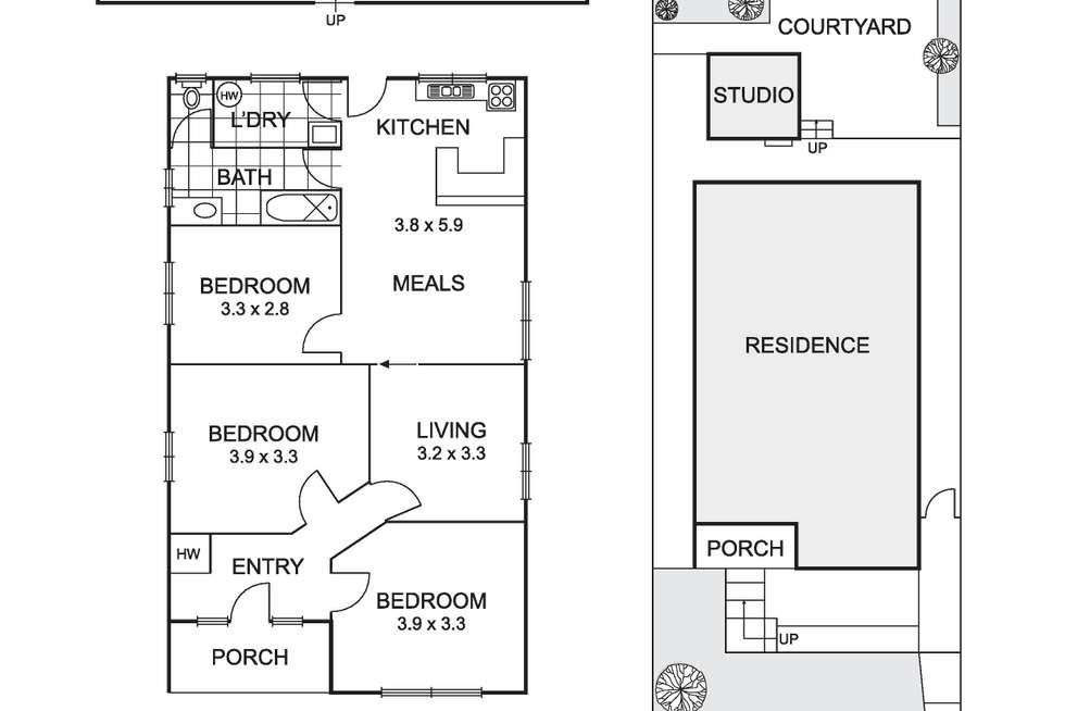 Floorplan of Homely house listing, 56 Shamrock. Street, Brunswick West VIC 3055