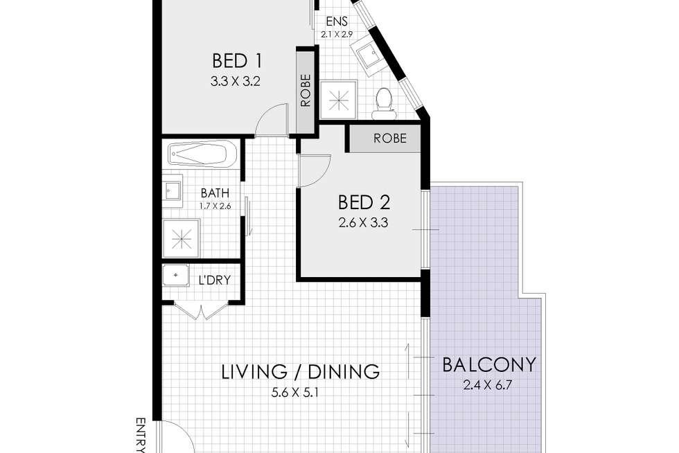 Floorplan of Homely apartment listing, 6/70-72 Park Road, Homebush NSW 2140