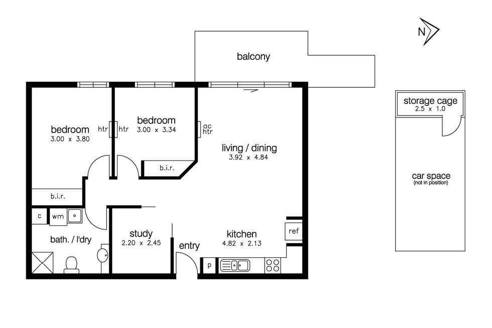 Floorplan of Homely apartment listing, 14/23 Pickett Street, Footscray VIC 3011