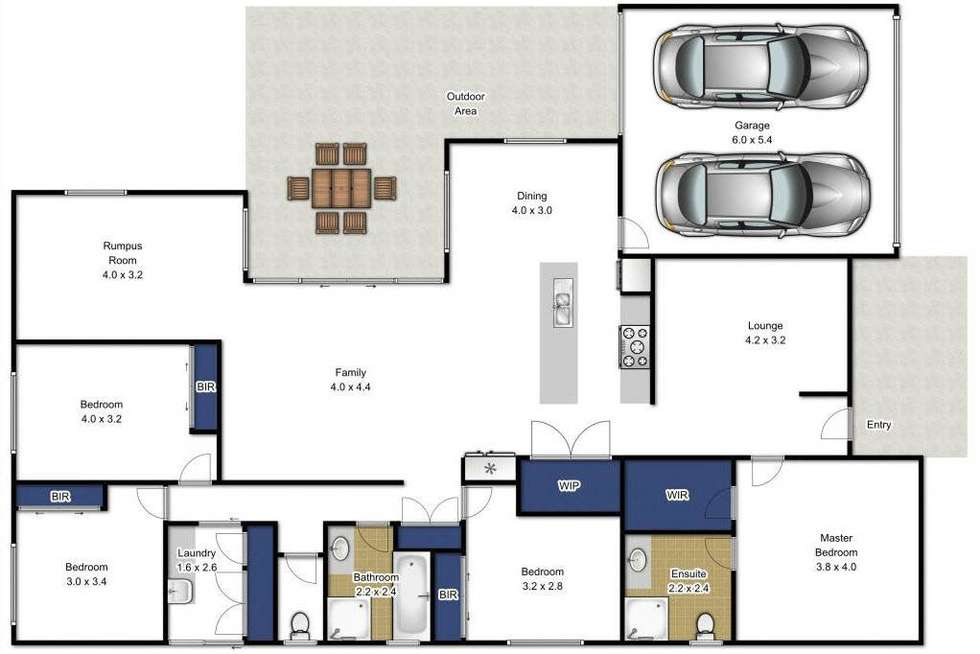 Floorplan of Homely house listing, 25 Greythorn Road, Traralgon VIC 3844