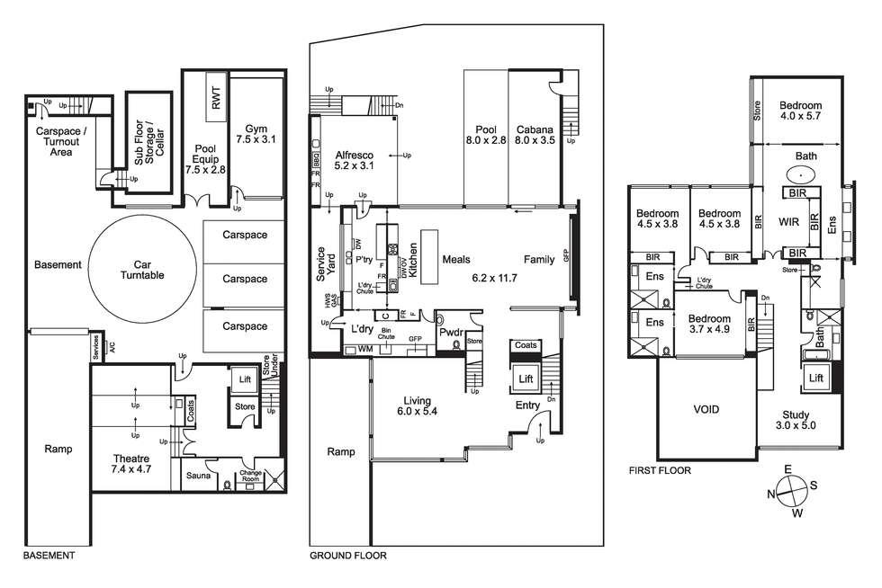 Floorplan of Homely house listing, 206 Napier Street, Essendon VIC 3040