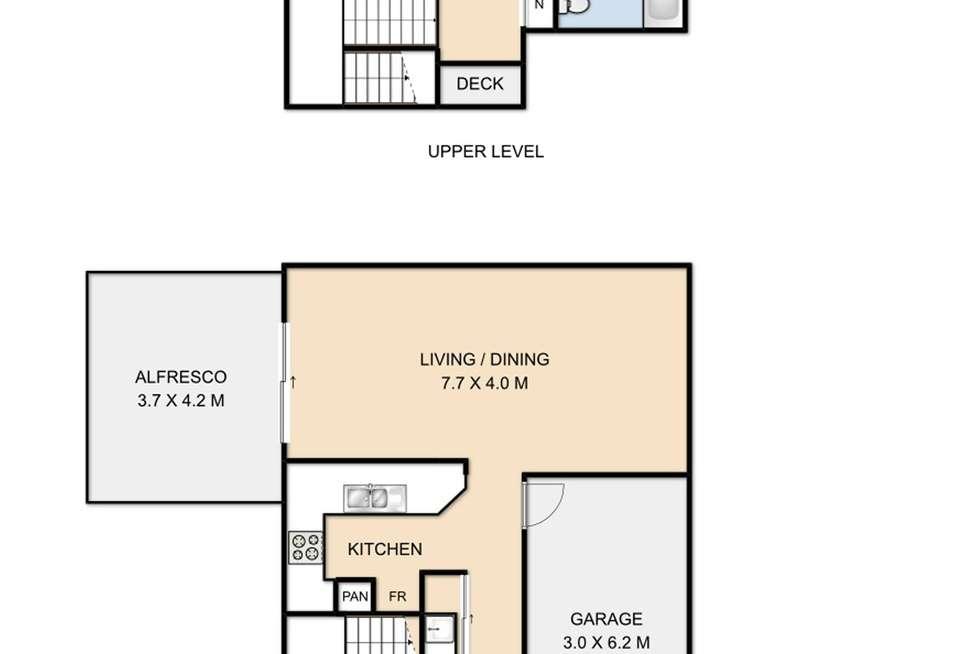 Floorplan of Homely unit listing, 2/5 Messines Street, Harlaxton QLD 4350