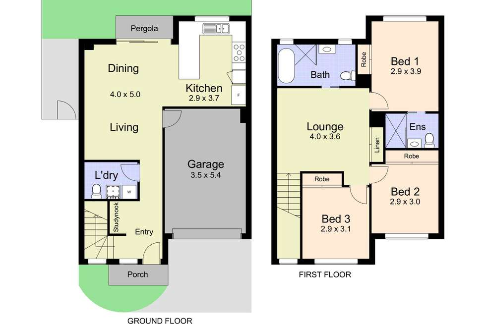 Floorplan of Homely townhouse listing, 2/25 Queens Road, New Lambton NSW 2305
