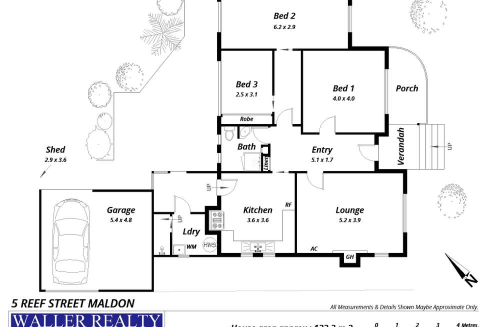 Floorplan of Homely house listing, 5 Reef Street, Maldon VIC 3463