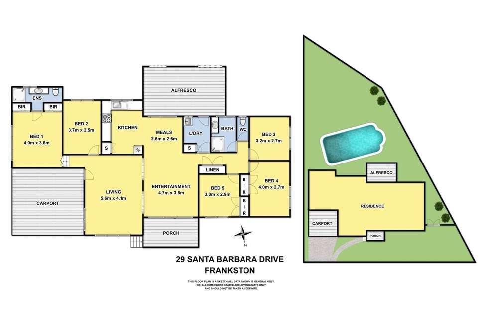 Floorplan of Homely house listing, 29 Santa Barbara Drive, Frankston VIC 3199