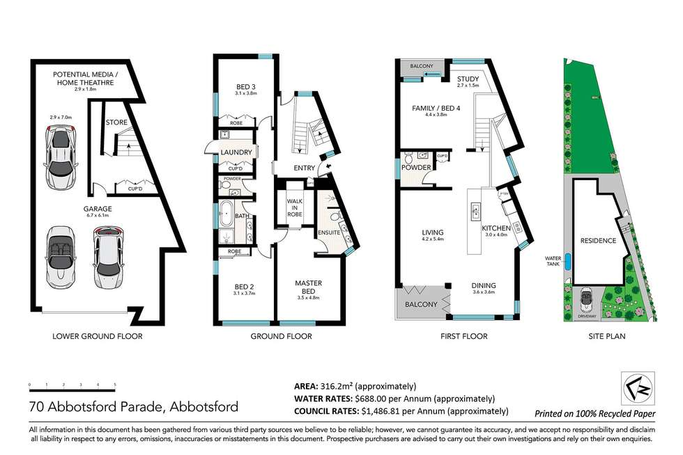 Floorplan of Homely house listing, 70 Abbotsford Parade, Abbotsford NSW 2046