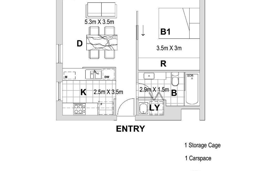 Floorplan of Homely apartment listing, 601/103 Forest Road, Hurstville NSW 2220