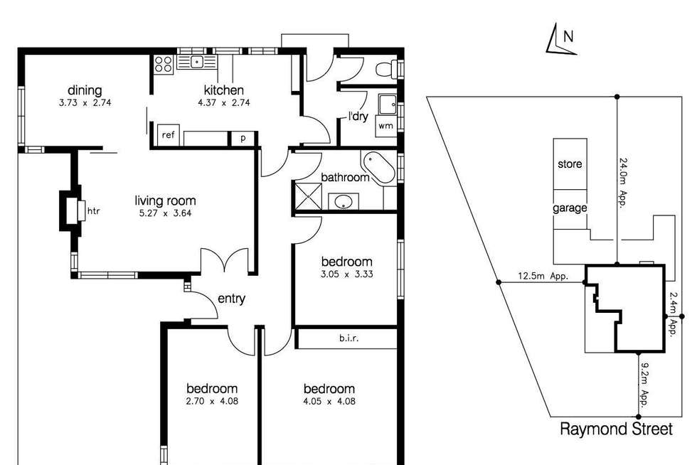 Floorplan of Homely house listing, 38 Raymond Street, Sunshine West VIC 3020