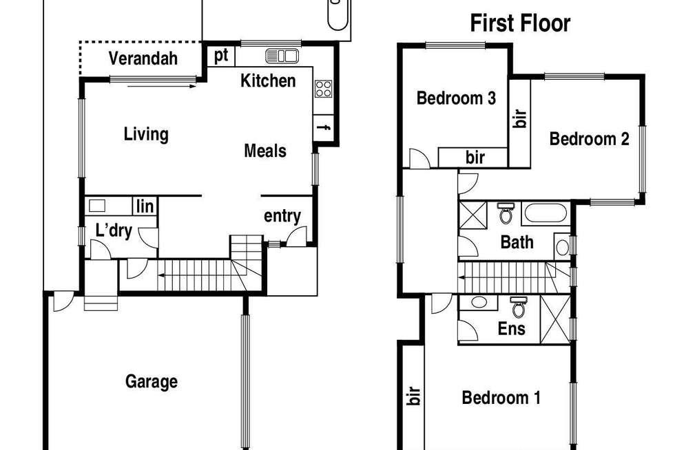 Floorplan of Homely townhouse listing, 1/28 Fairway Court (Enter from Warrenwood Place), Bundoora VIC 3083