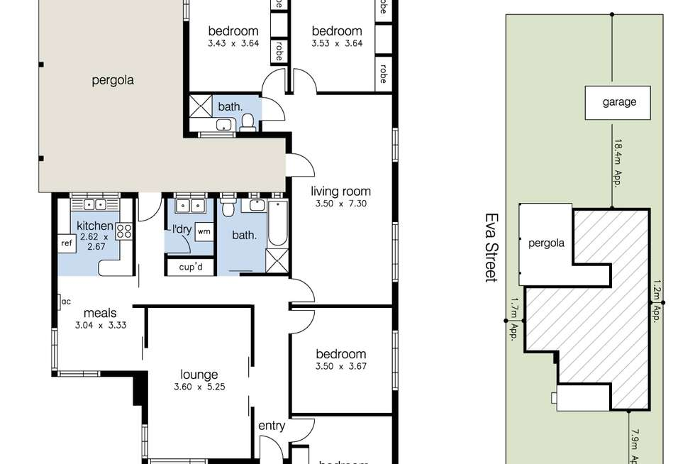 Floorplan of Homely house listing, 34 Hall Street, Sunshine West VIC 3020