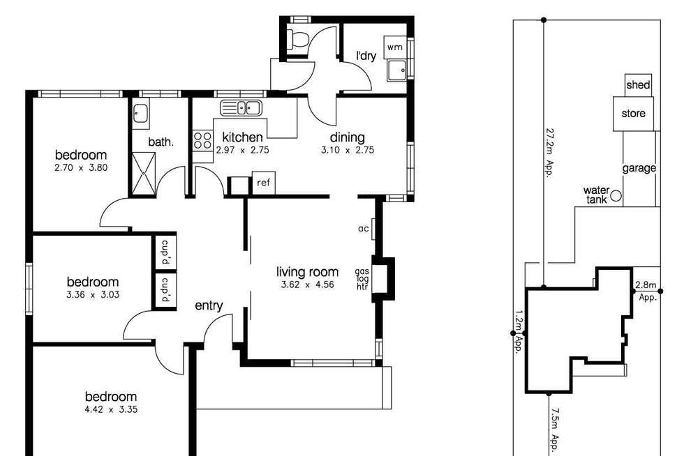 Floorplan of Homely house listing, 28 Davey Street, Sunshine West VIC 3020
