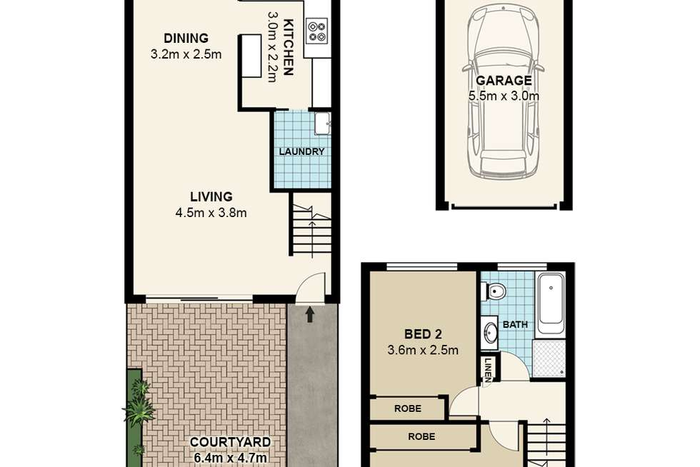 Floorplan of Homely townhouse listing, 9/19 Taranto Road, Marsfield NSW 2122
