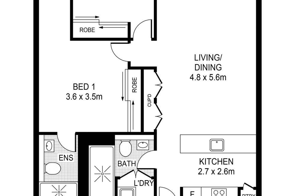 Floorplan of Homely apartment listing, 1202/23 Treacy Street, Hurstville NSW 2220