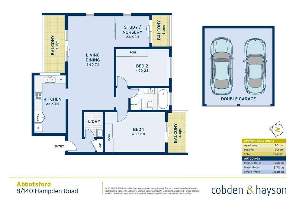 Floorplan of Homely apartment listing, 8/140 Hampden Road, Abbotsford NSW 2046