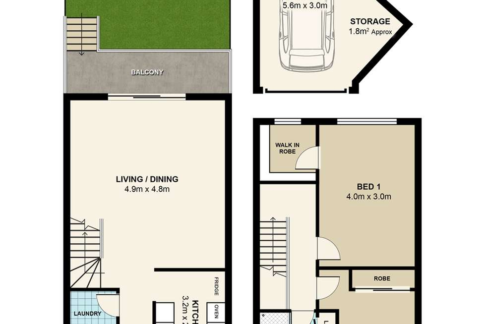 Floorplan of Homely townhouse listing, 2/150 Crimea Road, Marsfield NSW 2122