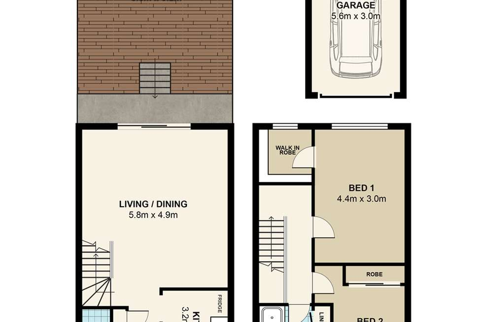 Floorplan of Homely townhouse listing, 7/140 Crimea Road, Marsfield NSW 2122