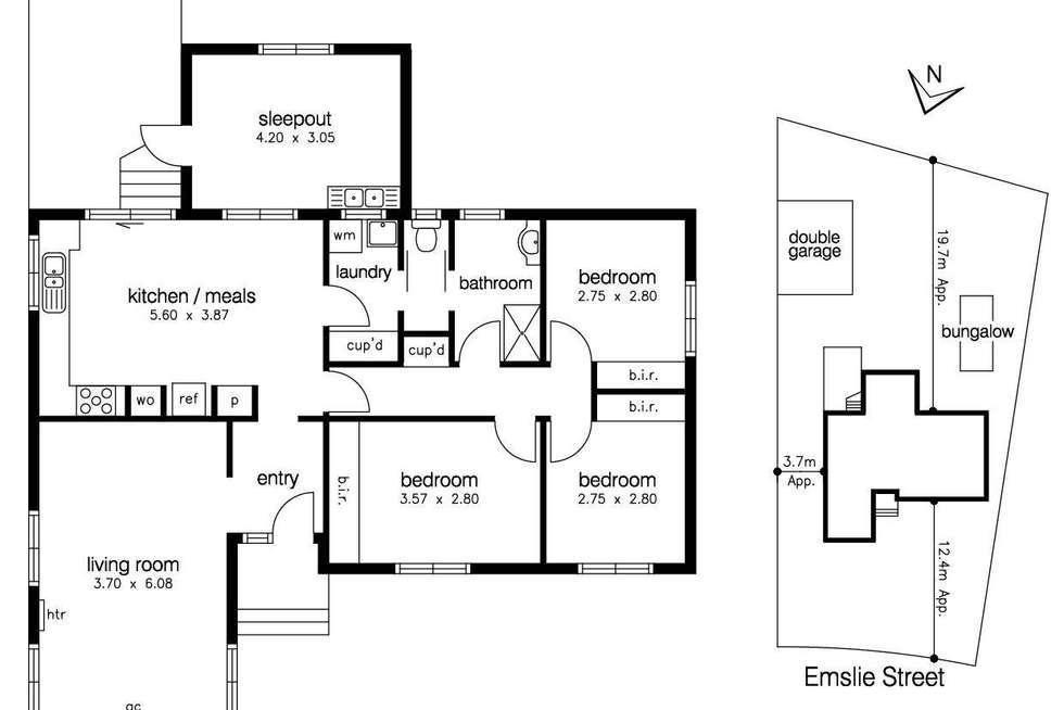 Floorplan of Homely house listing, 3 Emslie Street, Sunshine West VIC 3020