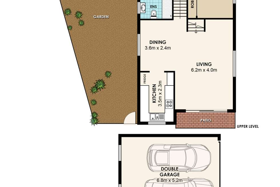 Floorplan of Homely semiDetached listing, 1/1 Knox Avenue, Epping NSW 2121