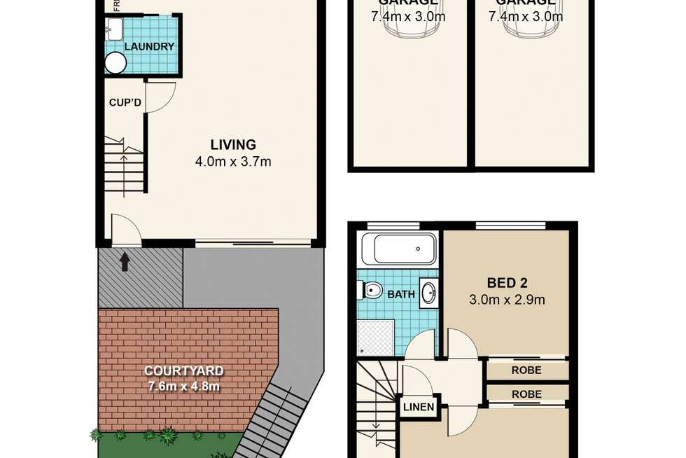 Floorplan of Homely townhouse listing, 50/102-104 Crimea Road, Marsfield NSW 2122