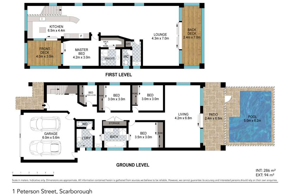 Floorplan of Homely house listing, 1 Peterson Street, Scarborough QLD 4020