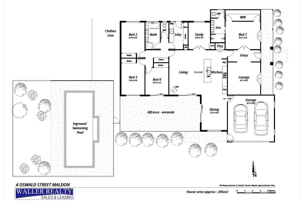 Floorplan of Homely house listing, 4 Oswald Street, Maldon VIC 3463