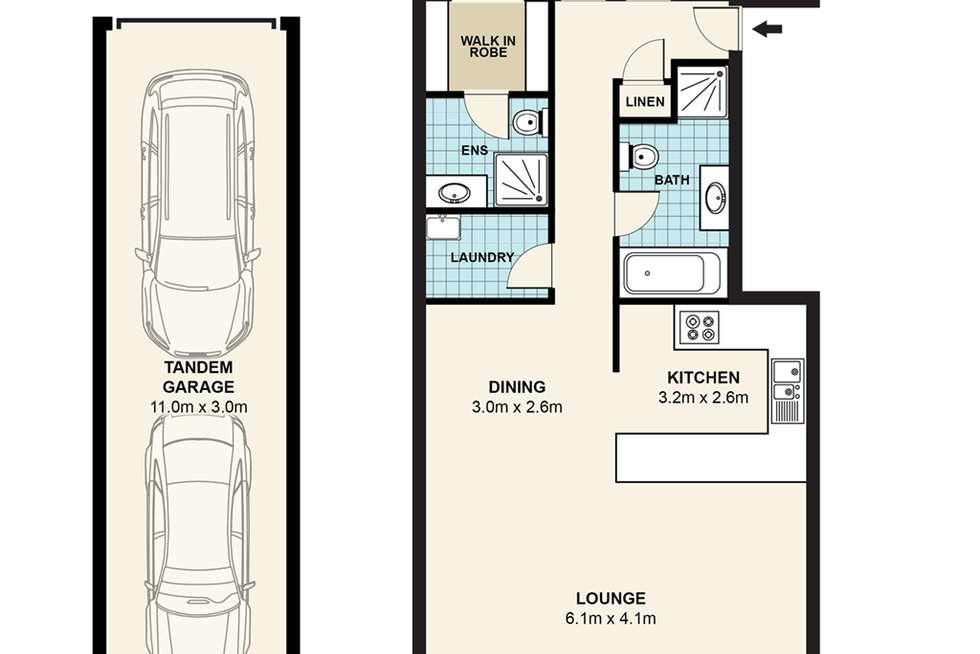 Floorplan of Homely unit listing, 42/106 Crimea Road, Marsfield NSW 2122