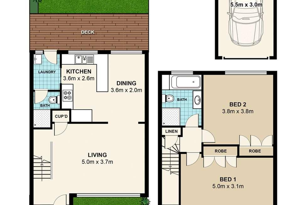 Floorplan of Homely townhouse listing, 29/8 Taranto Road, Marsfield NSW 2122