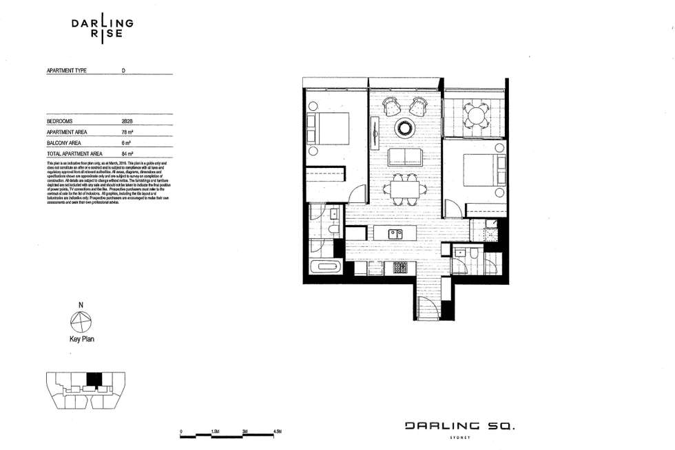 Floorplan of Homely apartment listing, 16D/SE1 Darling Rise, Harbour Street, Sydney NSW 2000