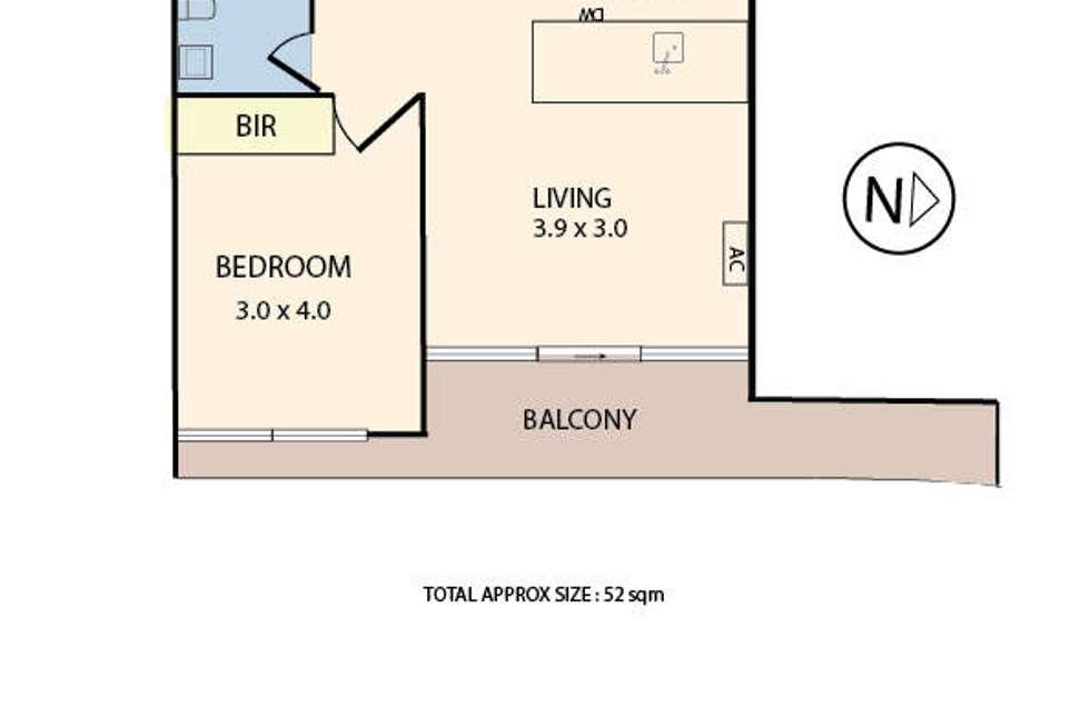 Floorplan of Homely apartment listing, 410E/8 Burnley Street, Richmond VIC 3121
