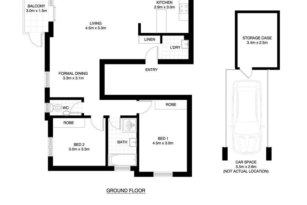 Floorplan of Homely unit listing, 5/8 Rokeby Road, Abbotsford NSW 2046