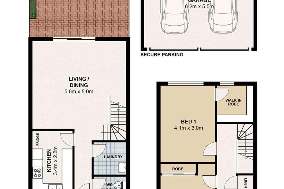 Floorplan of Homely townhouse listing, 46/23 Taranto Road, Marsfield NSW 2122