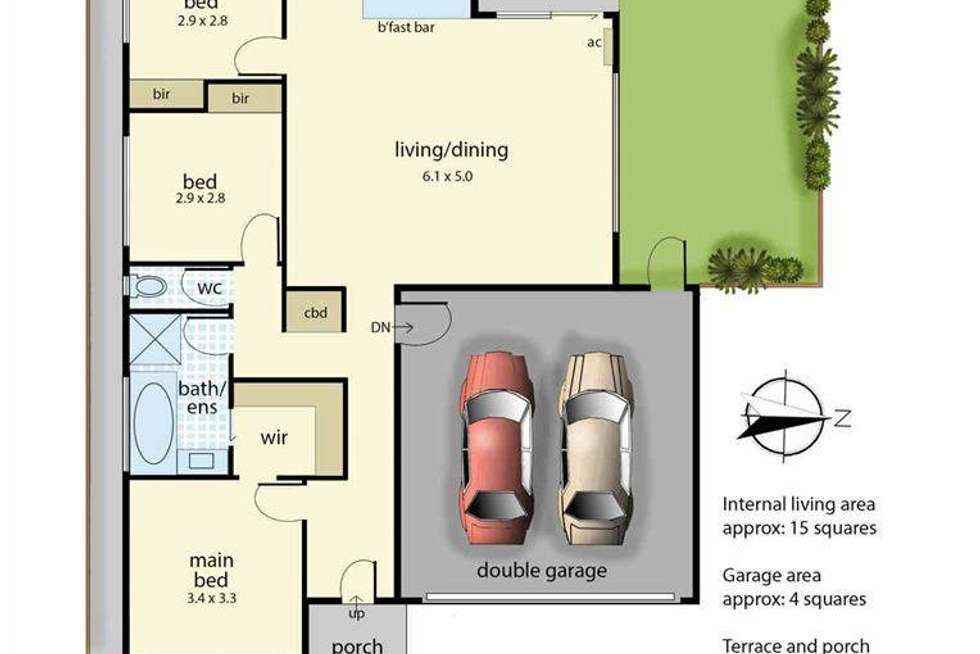 Floorplan of Homely unit listing, 3/10 Kingfisher Court, Hastings VIC 3915