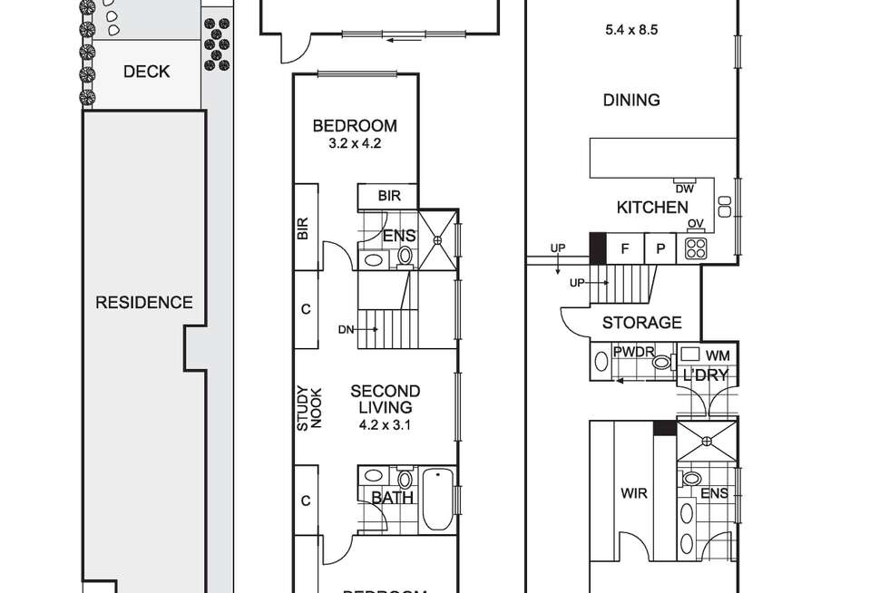 Floorplan of Homely house listing, 168A Separation Street, Northcote VIC 3070