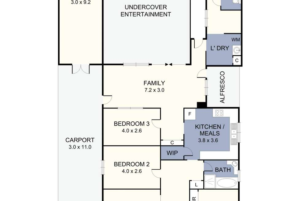 Floorplan of Homely house listing, 584 Bell Street, Pascoe Vale South VIC 3044