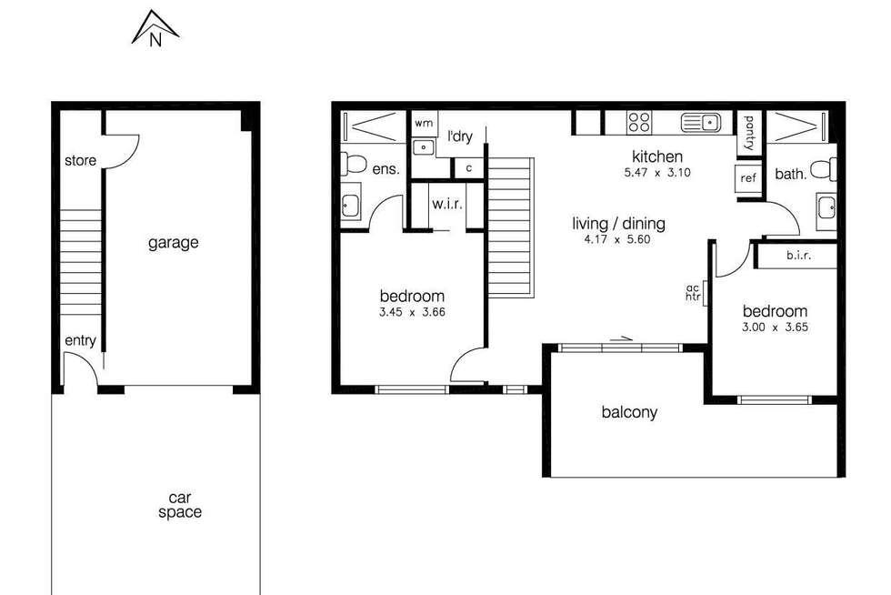 Floorplan of Homely townhouse listing, 9 Fontana Close, Sunshine West VIC 3020
