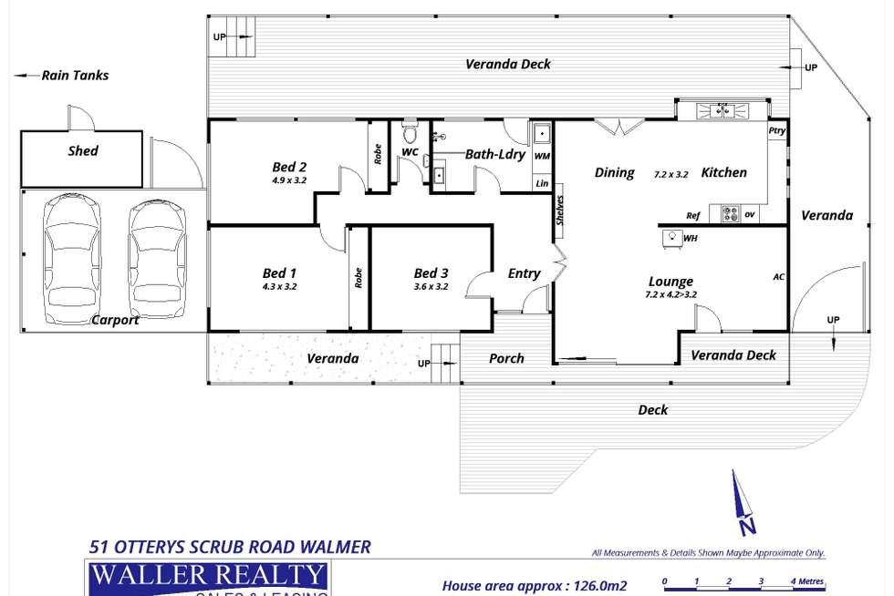 Floorplan of Homely house listing, 51 Ottreys Scrub Road, Walmer VIC 3463