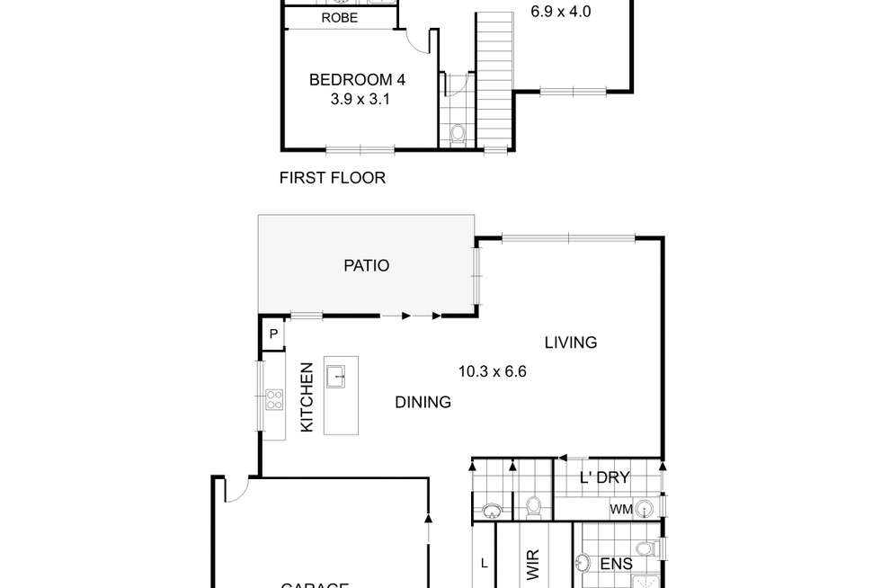 Floorplan of Homely house listing, 29A & 29B Tiverton Drive, Mulgrave VIC 3170